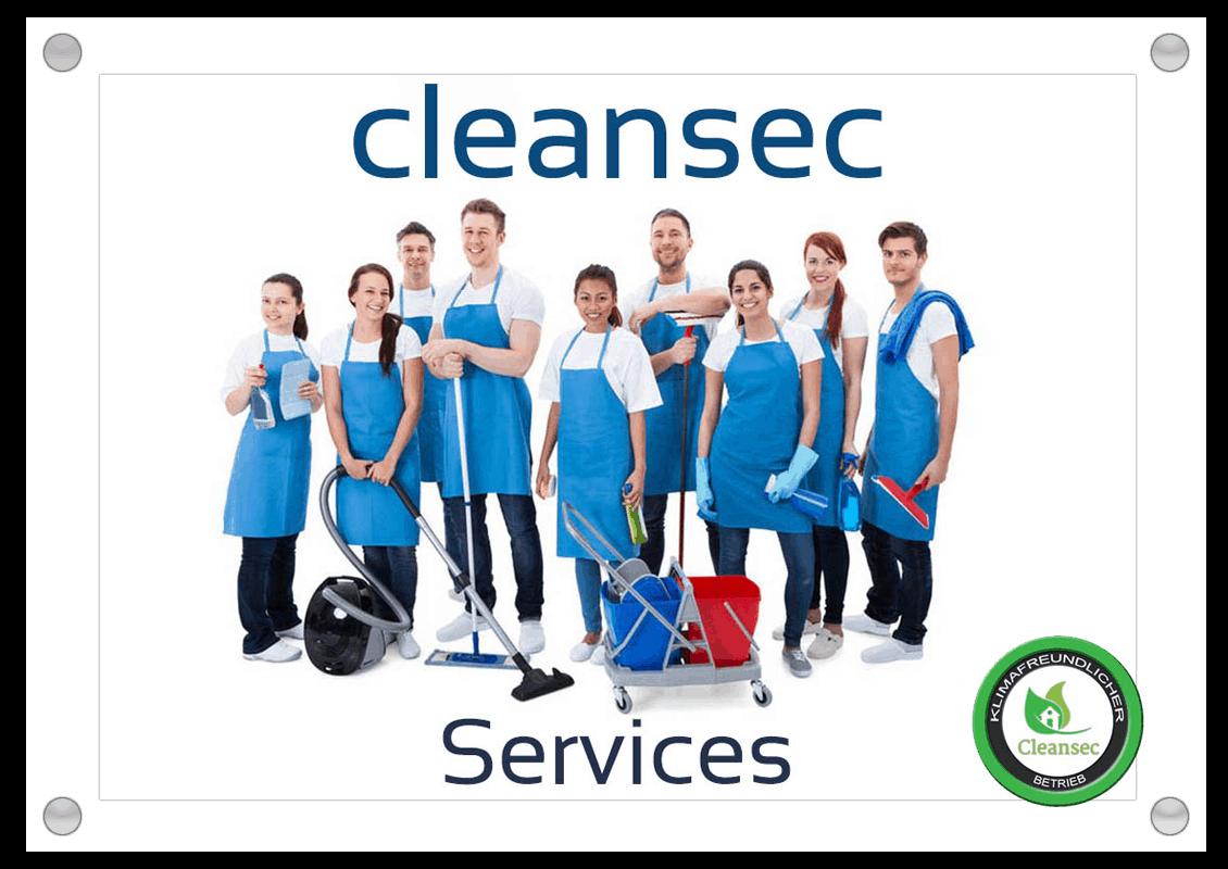 Cleansec logo mit glas